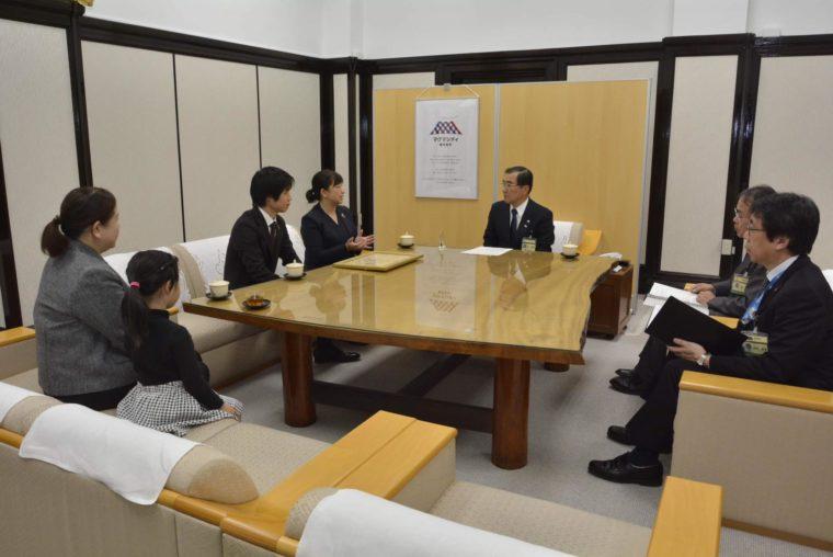 鹿児島市長表敬訪問